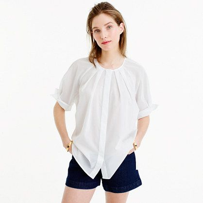 The laid-back peasant top gets pretty and polished, thanks to a sheer cotton voile from Thomas Mason, one of Europe's oldest and most legendary mills (it's been weaving some of the best shirting since 1796). Finished with feminine tucked pleat detailing and oversized cuffs, the flowy silhouette is perfect for spring layering as well as making a statement on its own. (And because the fabric <i>is</i> slightly sheer, it comes with a silk camisole for days when you want a little more…
