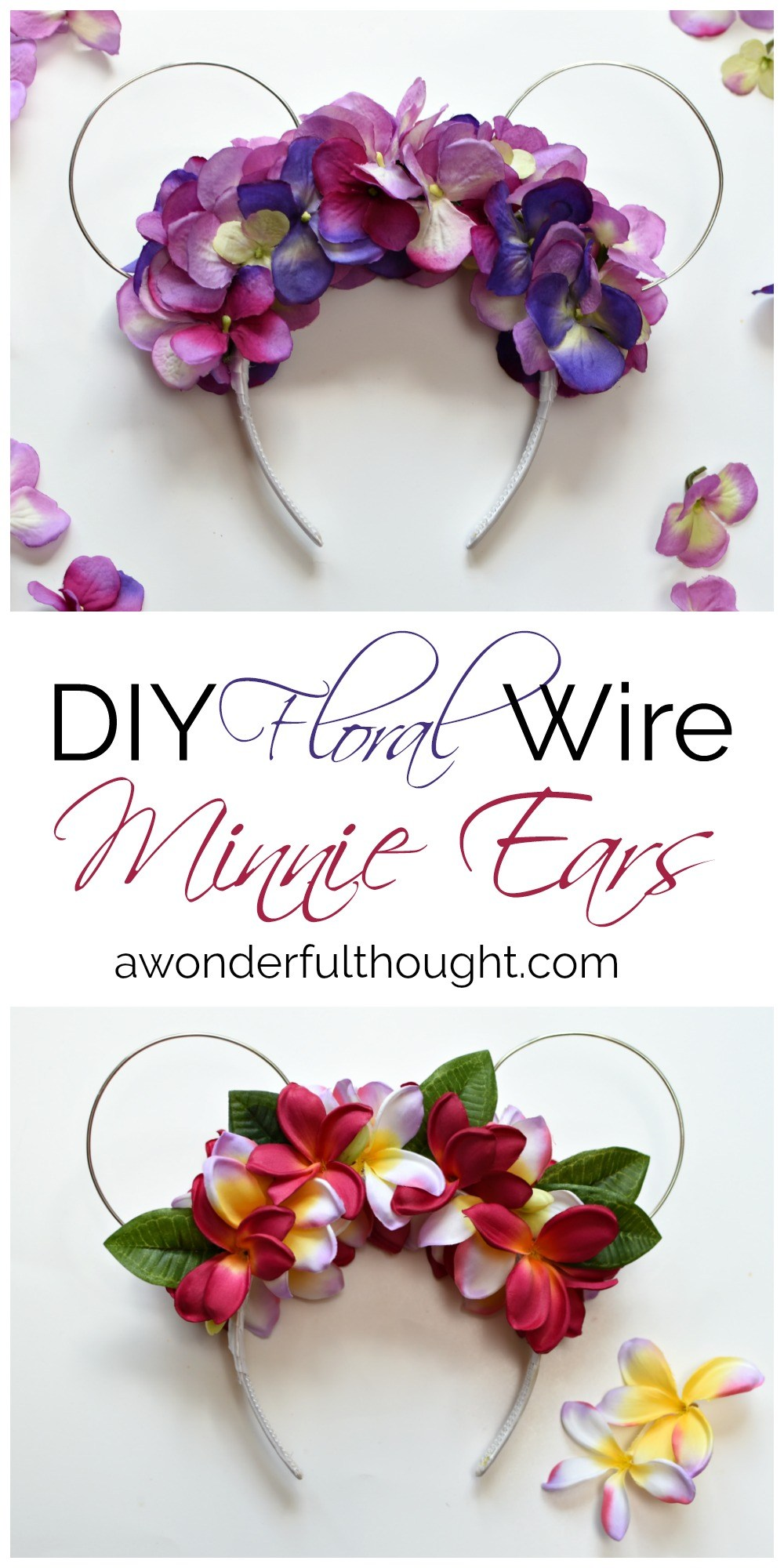 DIY Floral Wire Minnie Ears
