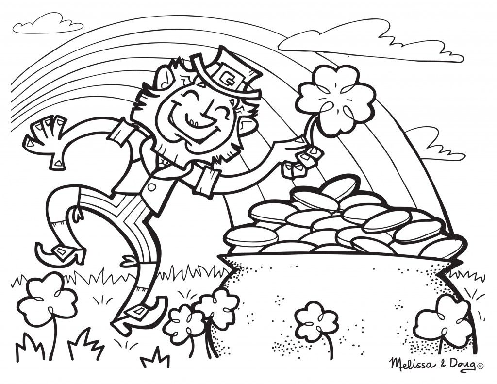 Coloring sheet leprechaun - Free St Patrick S Day Printables From Melissa Doug Rainbow Leprechaun Coloring Page