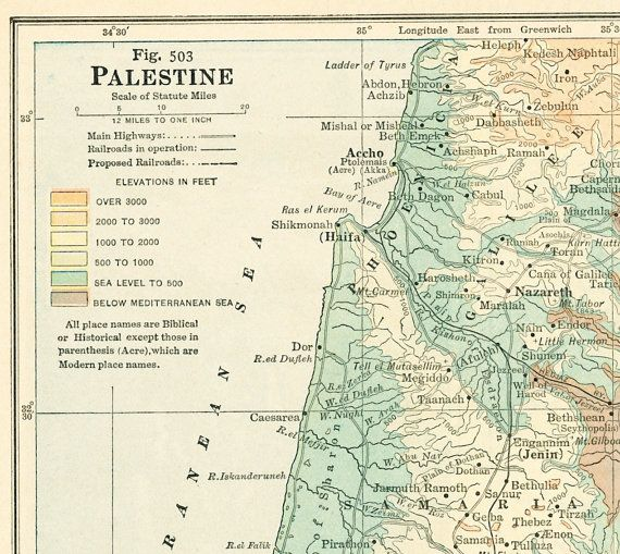1930s palestine map print pre israel map by eleanorsvintage 1930s palestine map print pre israel map by eleanorsvintage gumiabroncs Choice Image