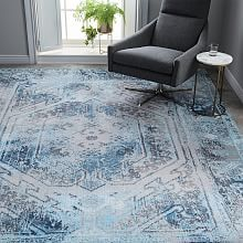 Distressed Arabesque Wool Rug Midnight Rugs In Living Room Persian Style Rug Room Rugs