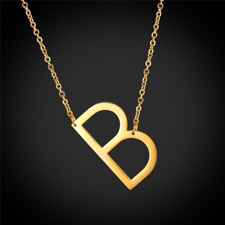 22++ Gold chain with letter b trends