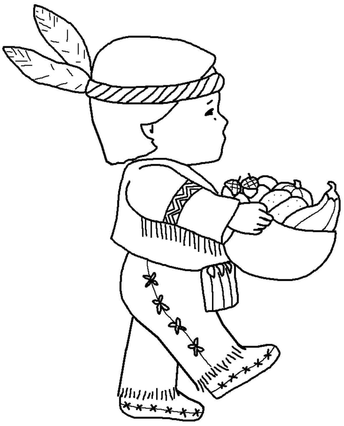 If You Desire To Get The Printable Thanksgiving Indian Coloring Sheets