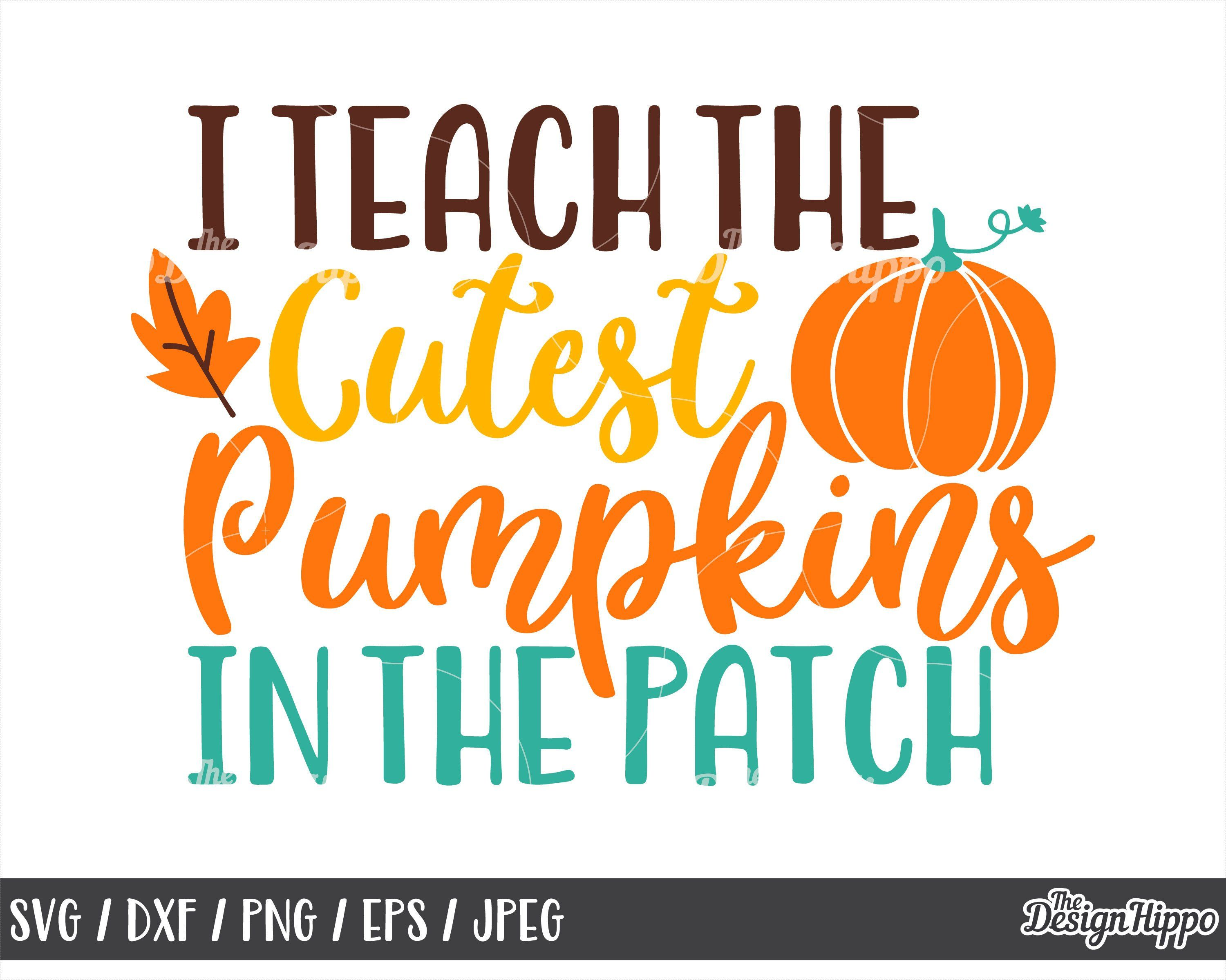 I teach the cutest pumpkins in the patch svg, I teach the