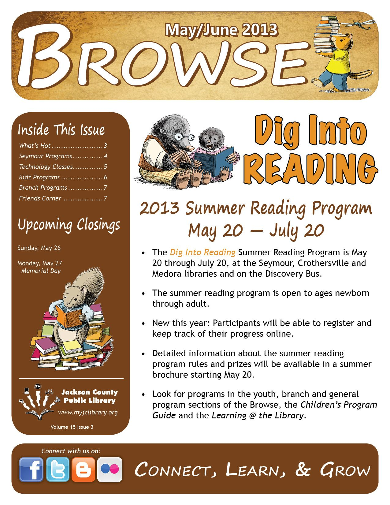 Jackson County Public Library  Browse  The Library Newsletter