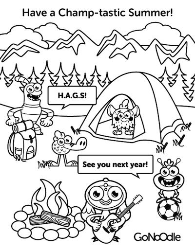 Gonoodle Characters Coloring Pages