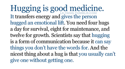 4 Benefits of Hugs, for Mind and Body @PsychToday | Holistic Healing Centre. Read article: http://theholistichealingcentre.wordpress.com/2014/06/24/4-benefits-of-hugs-for-mind-and-body-psychtoday/
