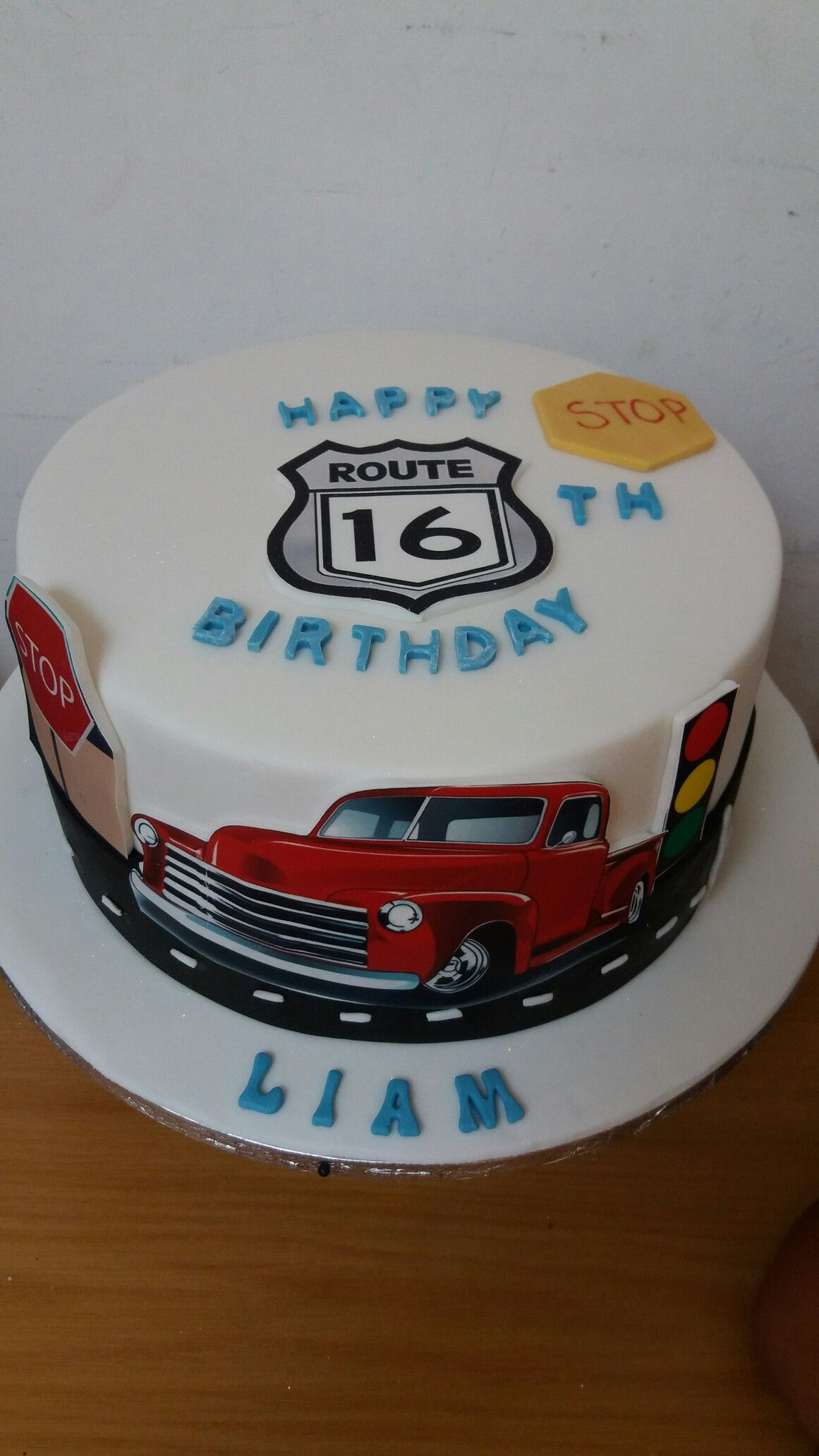 Boys 16th Birthday Cake With Images Boys 16th Birthday Cake