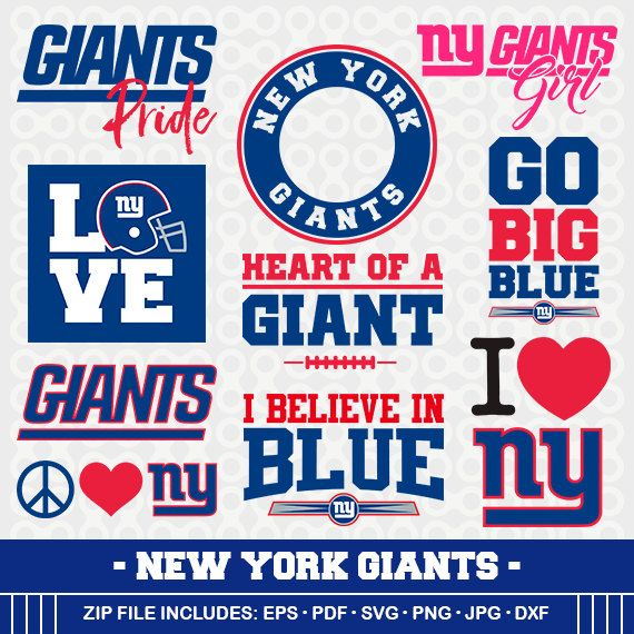 New York Giants Svg Files New York Football By Gameleaguesvg