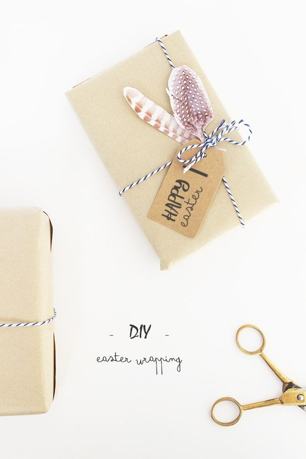 Diy easter gift wrapping paquetes pinterest wraps easter diy easter gift wrapping negle Images