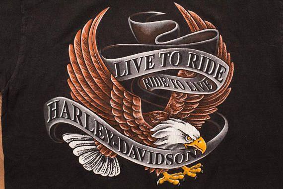 ff40c18a48183 Harley-Davidson Live to Ride Eagle T-Shirt