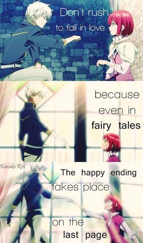 Akagami No Shirayukihime Tumblr Anime Quotes Inspirational Anime Love Quotes Anime Quotes