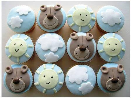 Cupcakes para babyshower niño