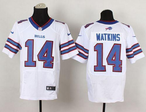 fce8f10b9 Nike Bills  14 Sammy Watkins White Men s Stitched NFL New Elite Jersey