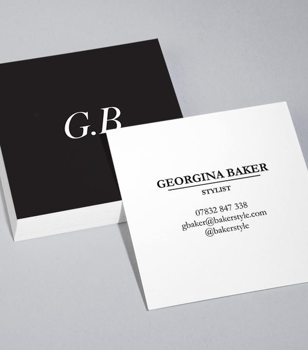 Square Business Card Designs Sharp Contrast Square Business Cards Business Card Design Free Business Card Templates