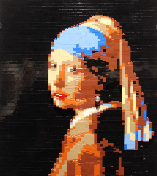 Girl with Pearl Earring at Art of the Brick in Cincinnati | A ...