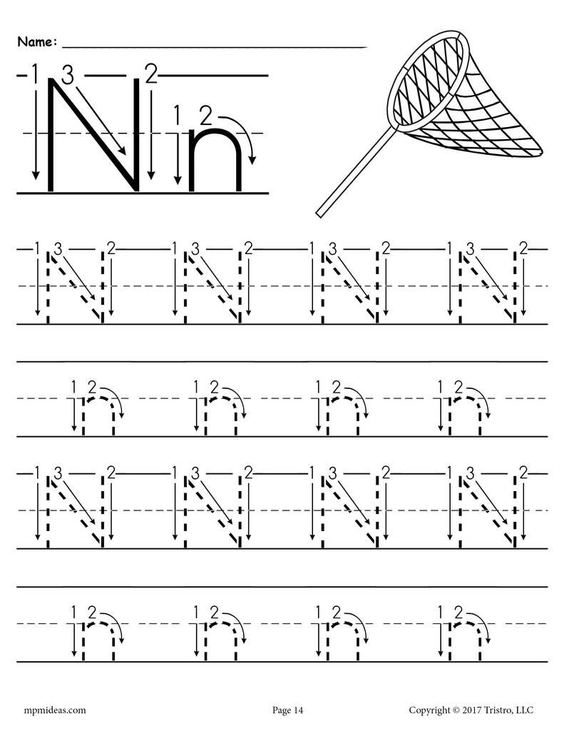 Printable Letter N Tracing Worksheet With Number And Arrow Guides Tracing Worksheets Preschool Letter N Worksheet Letter Tracing Printables [ 1024 x 791 Pixel ]