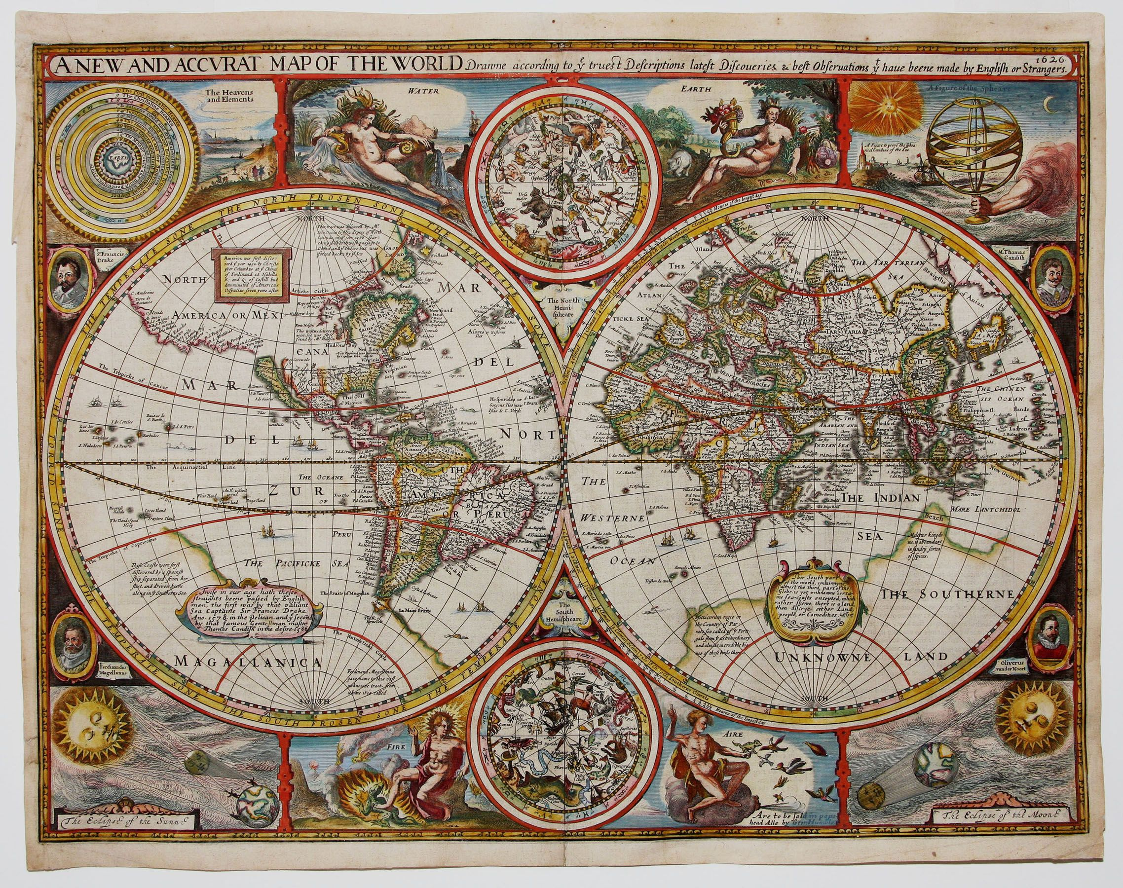 John Speed S 1627 World Map Mappe Antiche Cartografia E