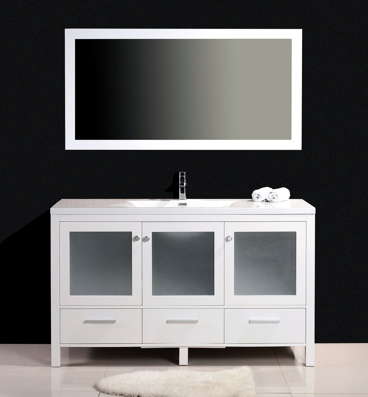 white modern bathroom vanities single sink. brezza 60\ white modern bathroom vanities single sink