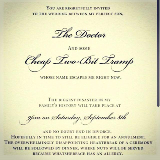 Perfect Wedding invitation Hahhahahahhahhaha