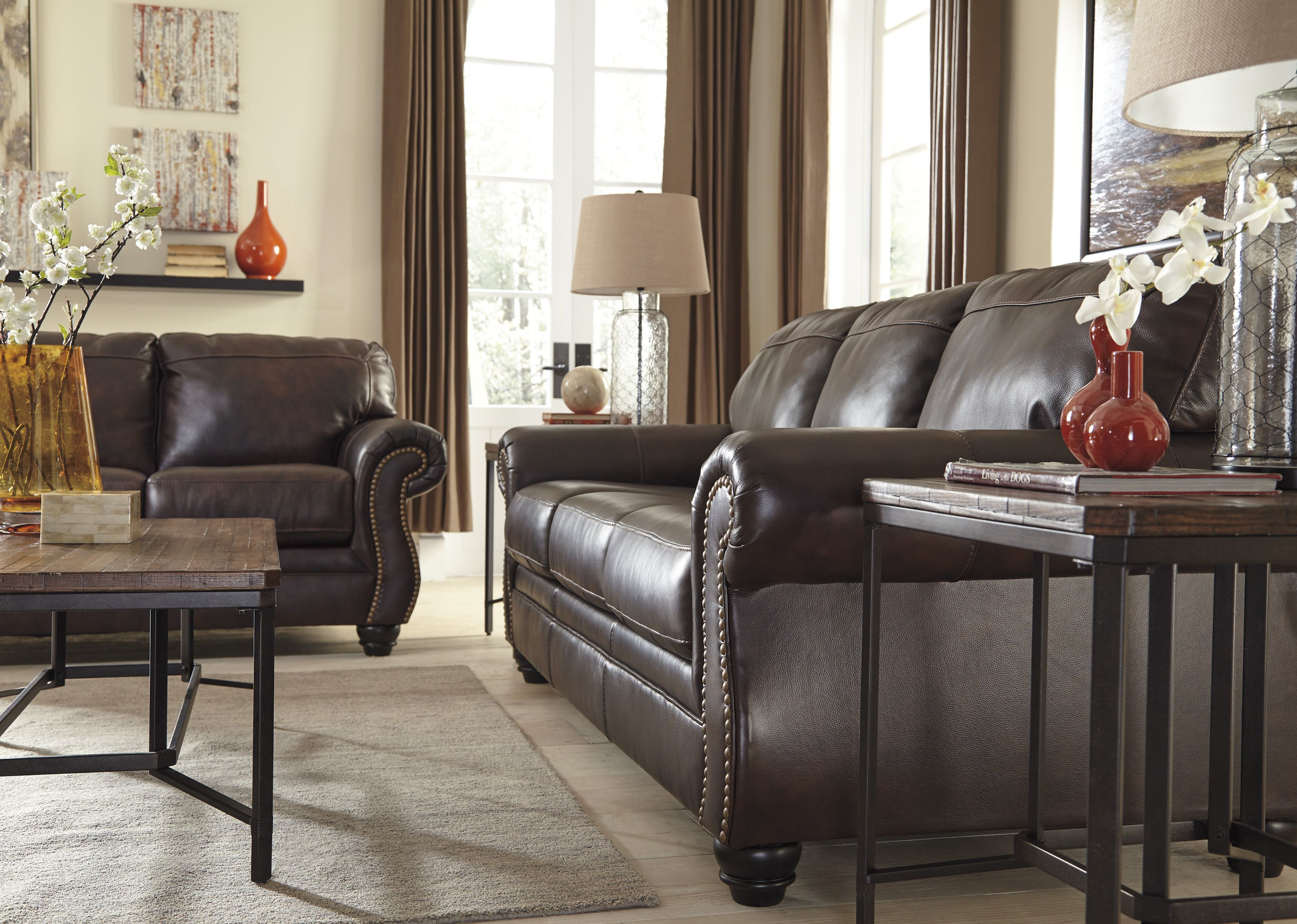 Take A Seat In Sophisticated Style With This Leather Sofa Genuine Leather Sofa Leather Sofa Brown Leather Sofa