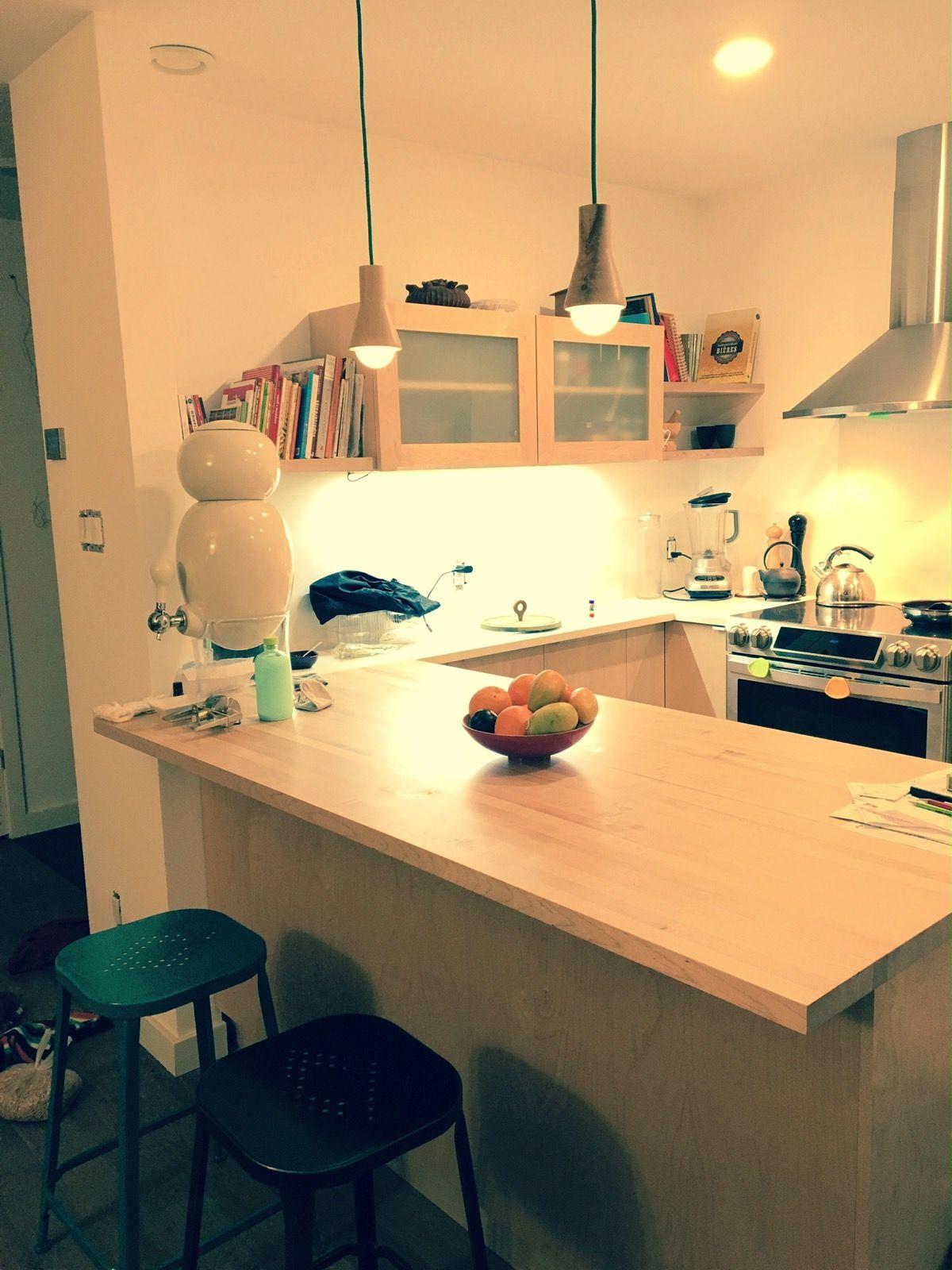 Maison Passive Ozalée Cuisine Ateliers Bois Urbain Montréal - Meuble cuisine sans formaldehyde pour idees de deco de cuisine