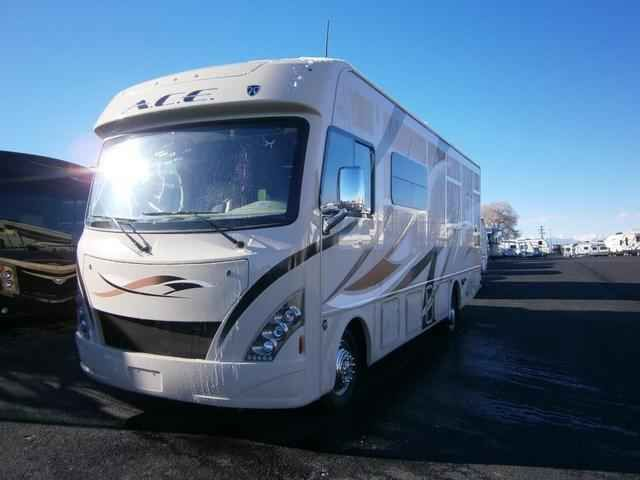 2016 New Thor Motor Coach ACE EVO27.1 Class A in Colorado CO.Recreational Vehicle, rv, 2016 THOR MOTOR COACH ACEEVO27.1, 12V Attic Fan in Bedroom, 12V Attic Fan in Living Area, 15.0 BTU A/C, 32in Exterior TV, 32in TV in Bedroom, Cabinetry-Sydney Maple, Harmony Exterior, Interior- Gold Mine, Second Auxiliary Battery,