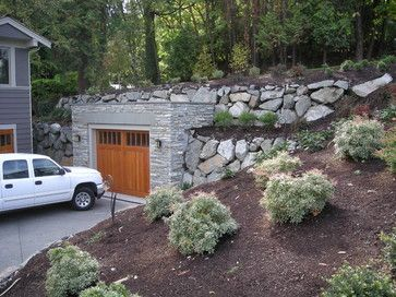 Mercer Island Waterfront Transitional Garage And Shed
