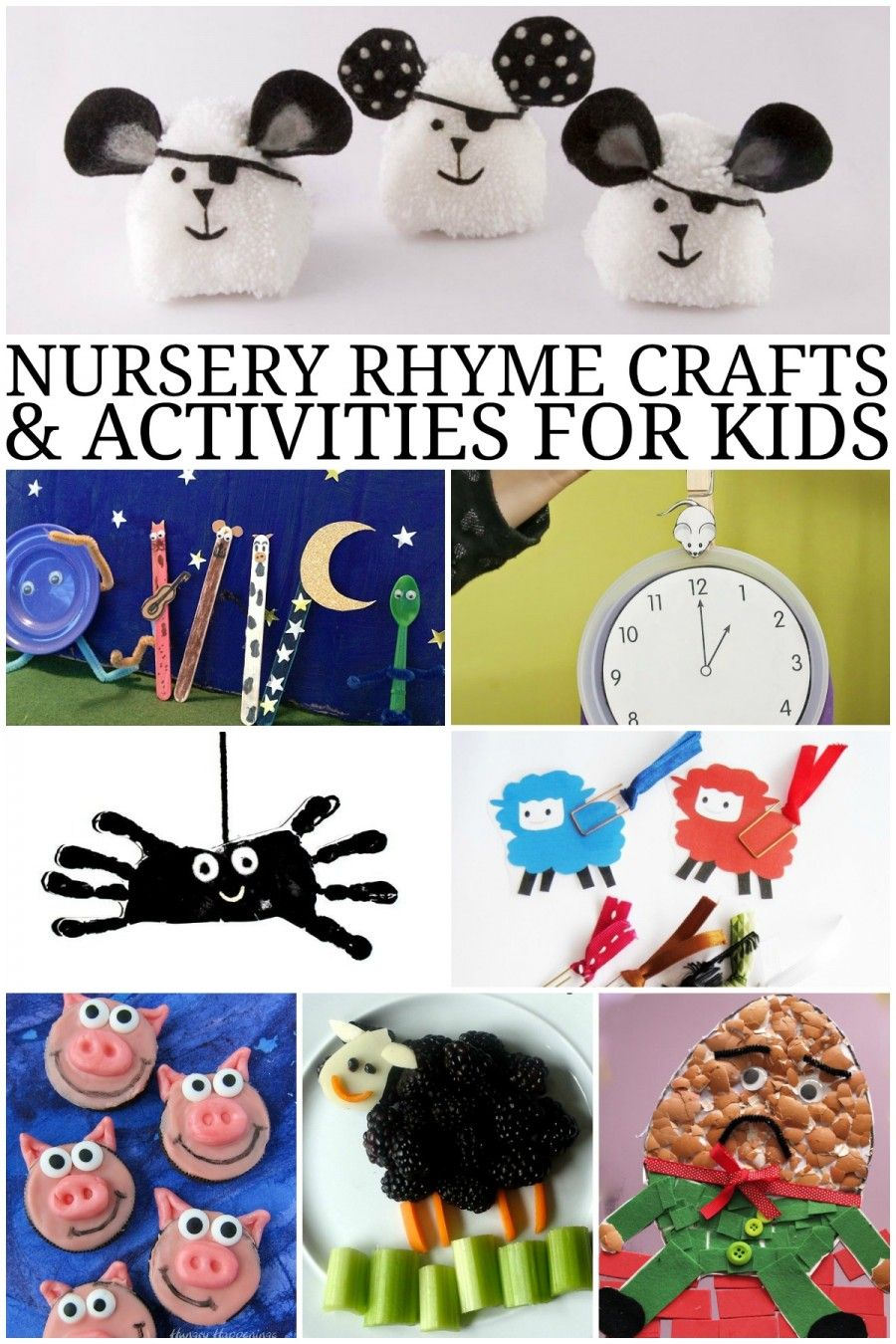 Nursery Rhyme Crafts and Activities for Kids including ...