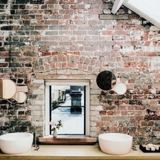 Exposed brick wall home is you pinterest for Grado medio decoracion de interiores
