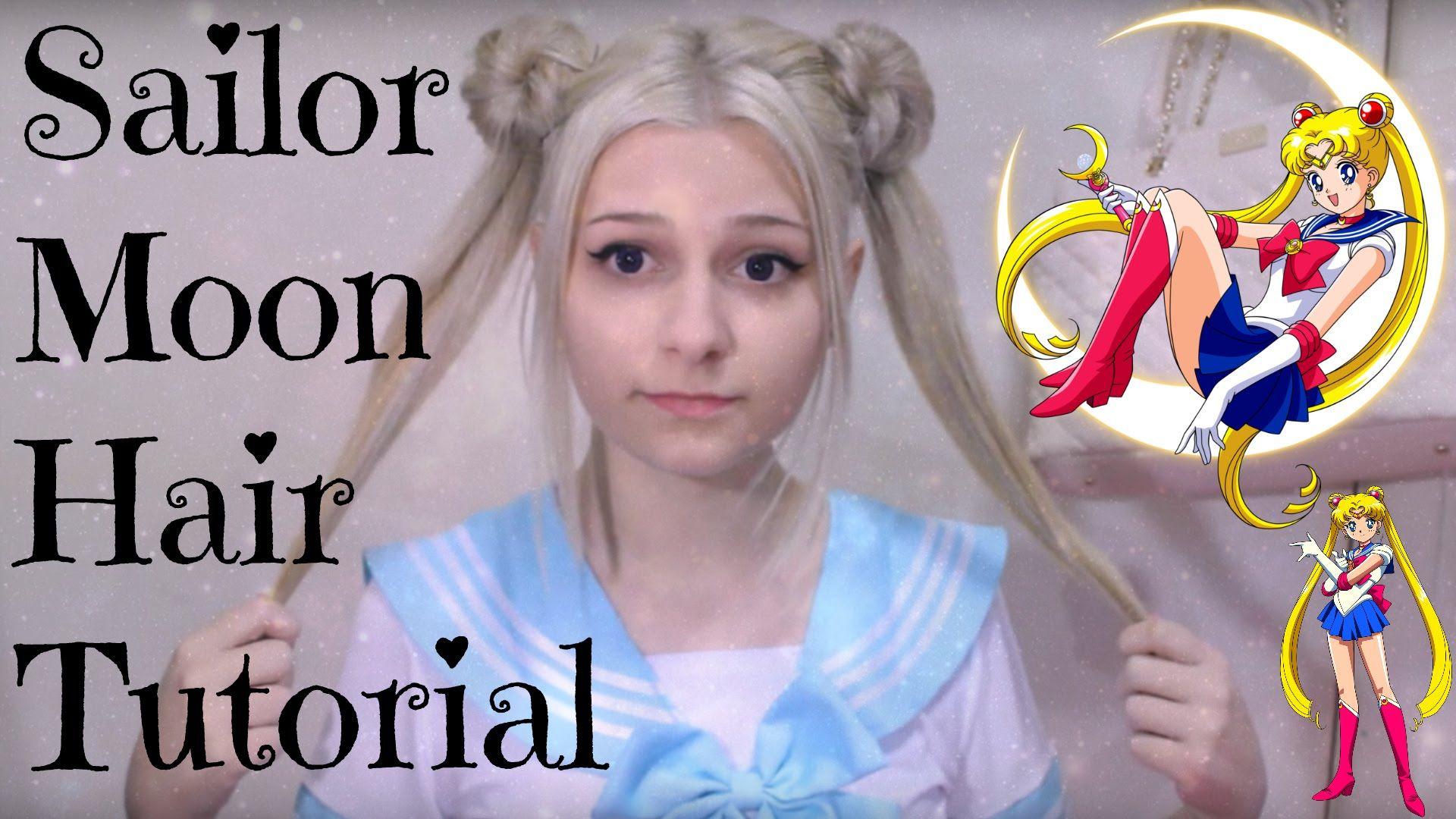 Edit Omg Over 10 000 Views Wow Thank Y All Soooo Much X Heyo Welcome To My Very First Youtube Video Sailor Moon Hair Hair Bun Tutorial Kawaii Hairstyles