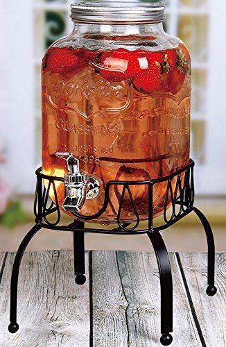 Estilo 1 Gallon Single Beverage Drink Dispenser On Metal Https Www Amazon Com Dp B071jsd48y Ref Drink Dispenser Glass Beverage Dispenser Glass Dispenser