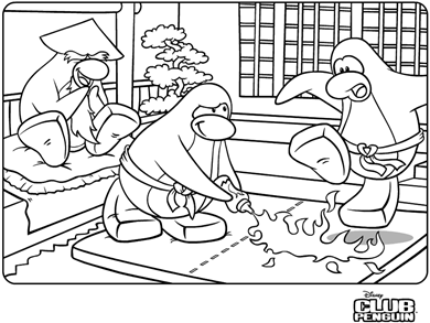 printable club penguin coloring pages