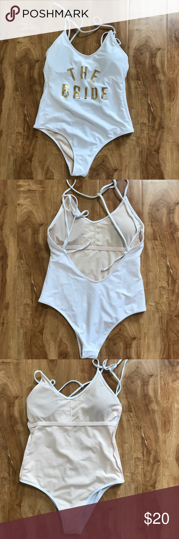 """ce79981364f41 Vanilla Beach """"The Bride"""" One Piece Swimsuit Small Sexy white """"The Bride""""  One Piece Swimsuit by Vanilla Beach. Not to shy? This suit has low arm  holes a ..."""
