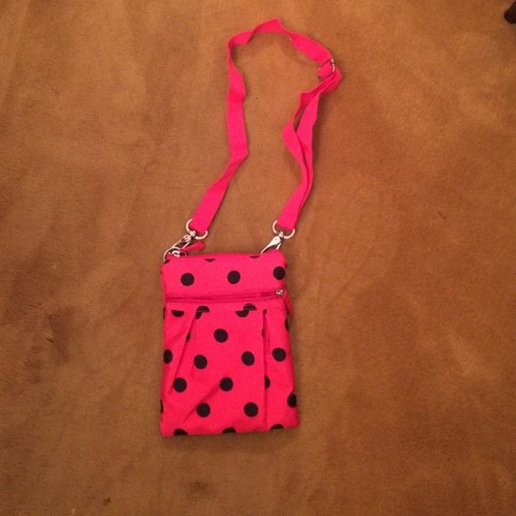 NWOT Pink Polka Dot Purse brand new got as a gift! Bags Crossbody Bags