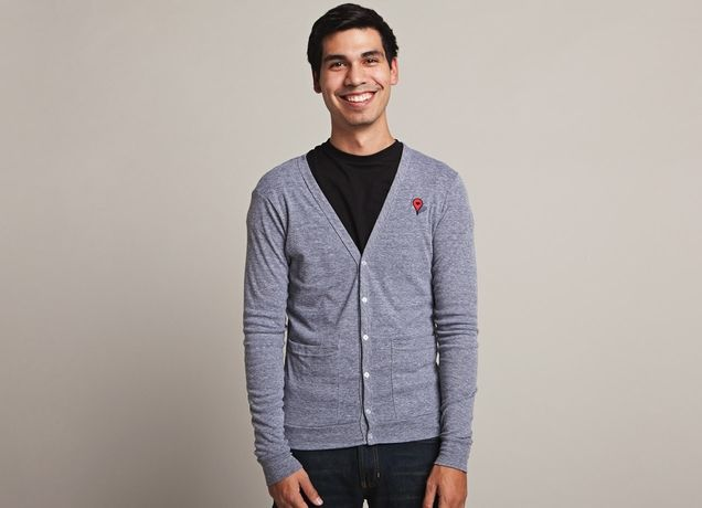 """Where The Heart Is"" Google Maps placemark #cardigan, $44"