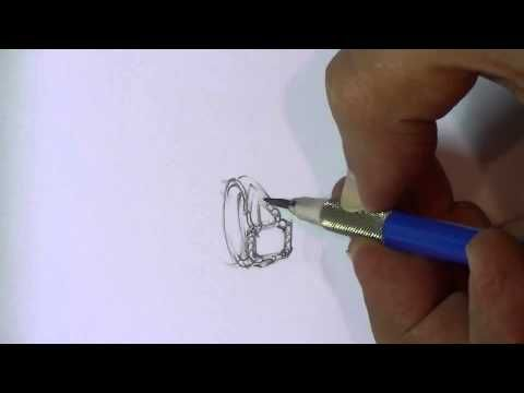 how to draw a ring design