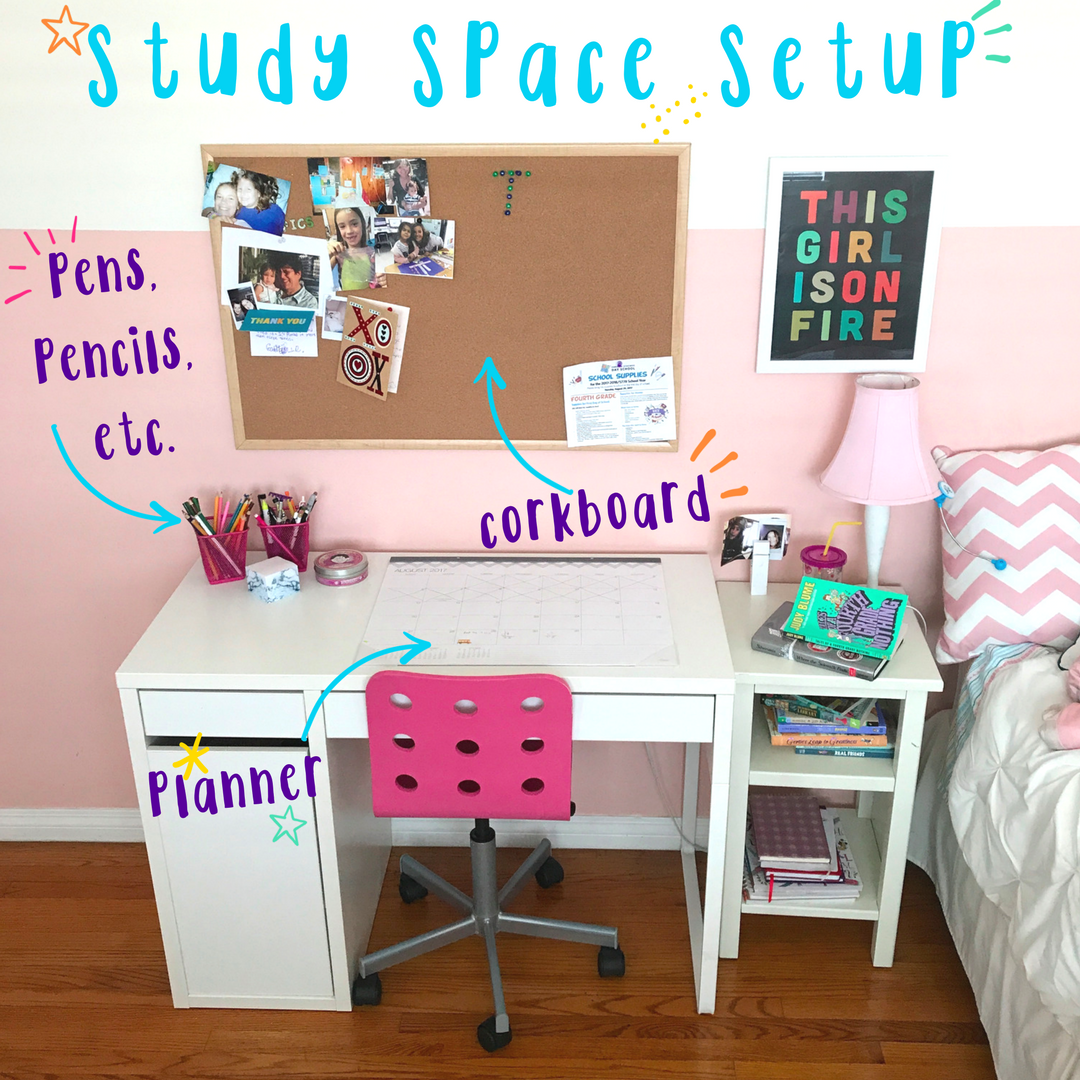 Homework Station Setup Girls Homework Station Small Kids Room