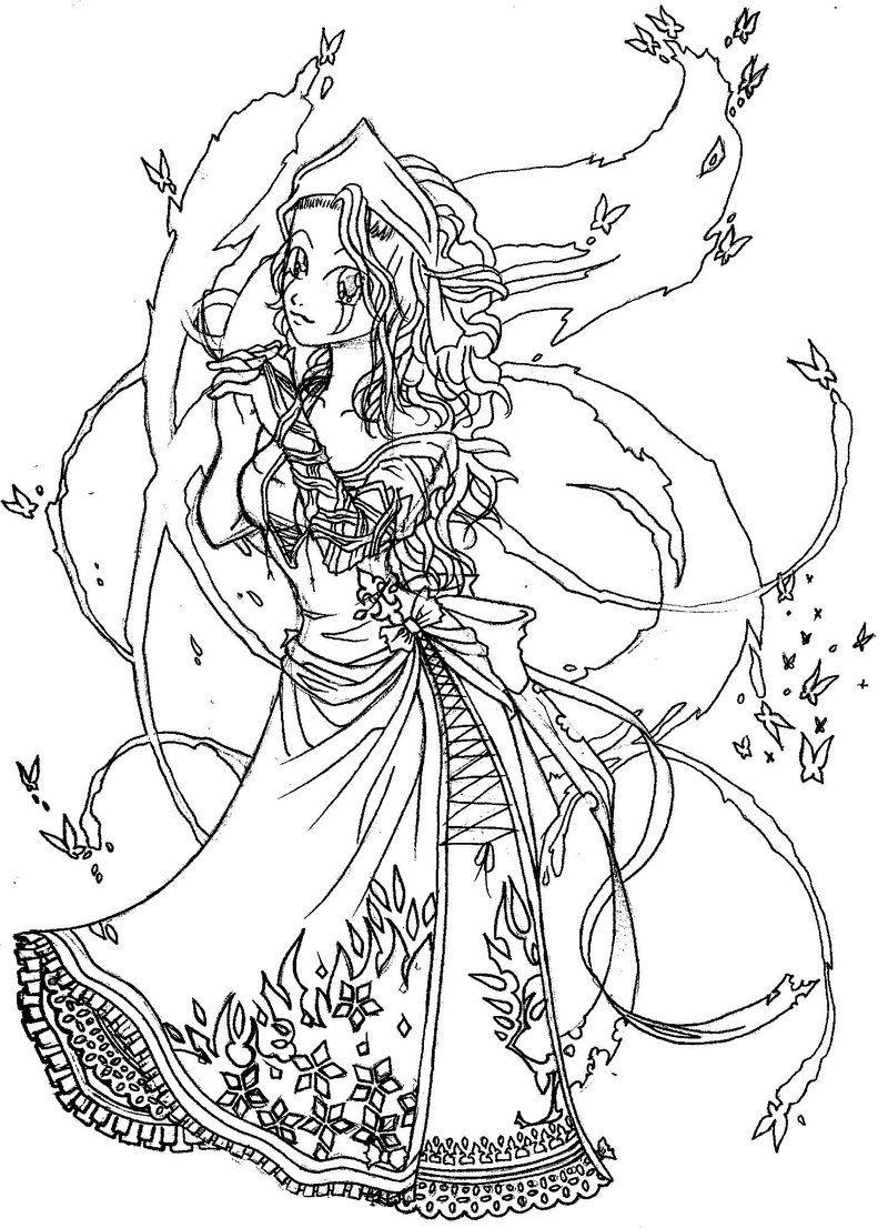 Dark Snow Queen lineart by sugahrocktoy96 | Snow queen ...