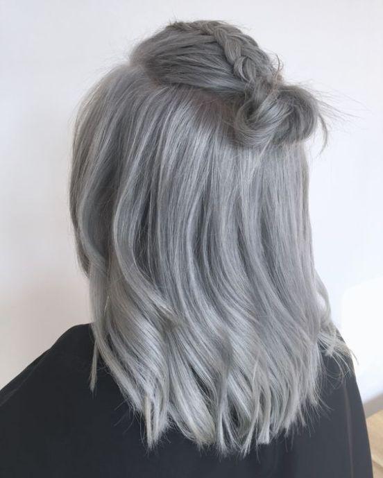 How to Wear Trendy Gray Hair -   13 hair Gray color ideas