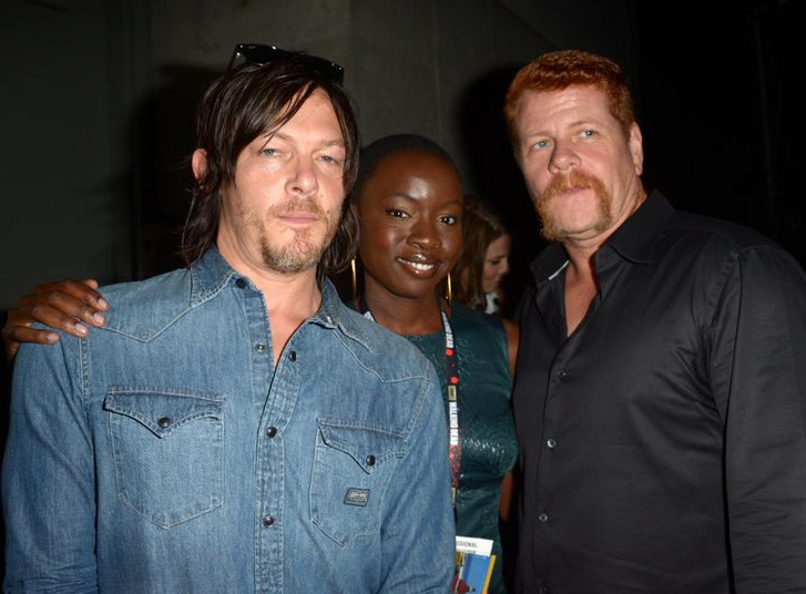 Norman Reedus, Danai Gurira and Michael Cudlitz at #SDCC