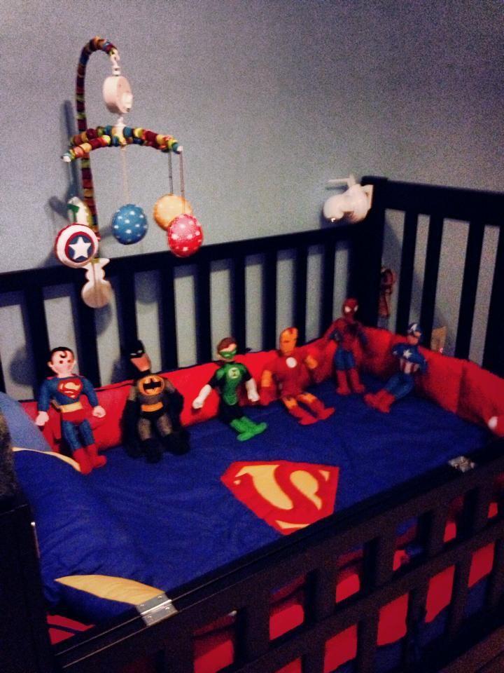 superheroes para cuna. Móvil para bebé | Lupillos | Pinterest ...