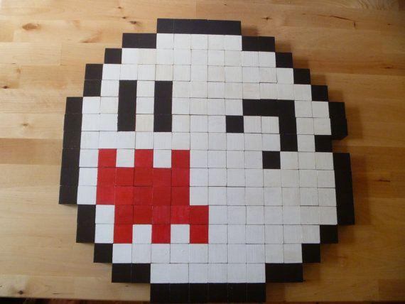 8-bit Little Boo wall art   Crochet Master   Pinterest   Walls ...
