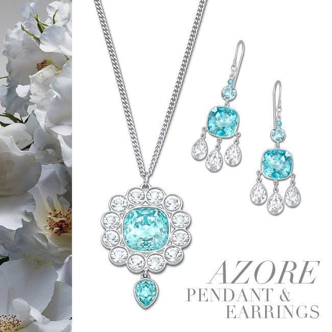 Swarovski Azore Pendant and Earrings