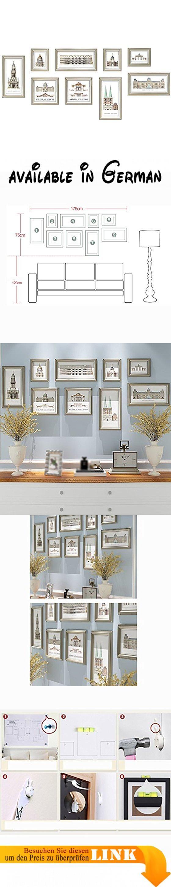 G Y Foto Wand Retro Style Bilderrahmen Wand Wohnzimmer Schlafzimmer 9  Bilderrahmen Kombination Bild. √ HD Qualität, Farbe, Um Dauerhaft, Warm Und  Ru2026