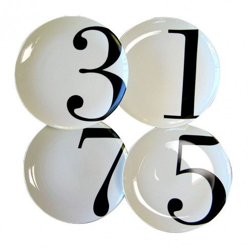 Odd Numbered Dinner Plates, Set of 4