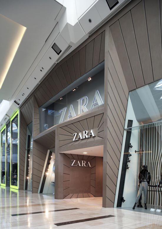 facade of the zara modern design store 04 d cephe pinterest magasin vitrine ve. Black Bedroom Furniture Sets. Home Design Ideas