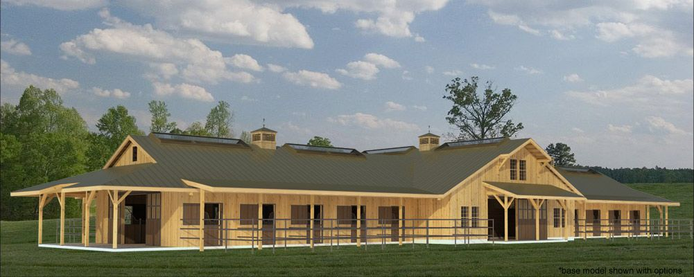Build A Barn The Fieldstone 20 Stall Horse Barn Plans