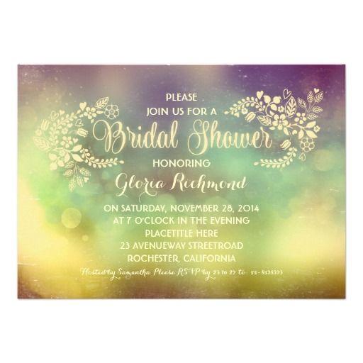 rustic vintage floral bridal shower invite