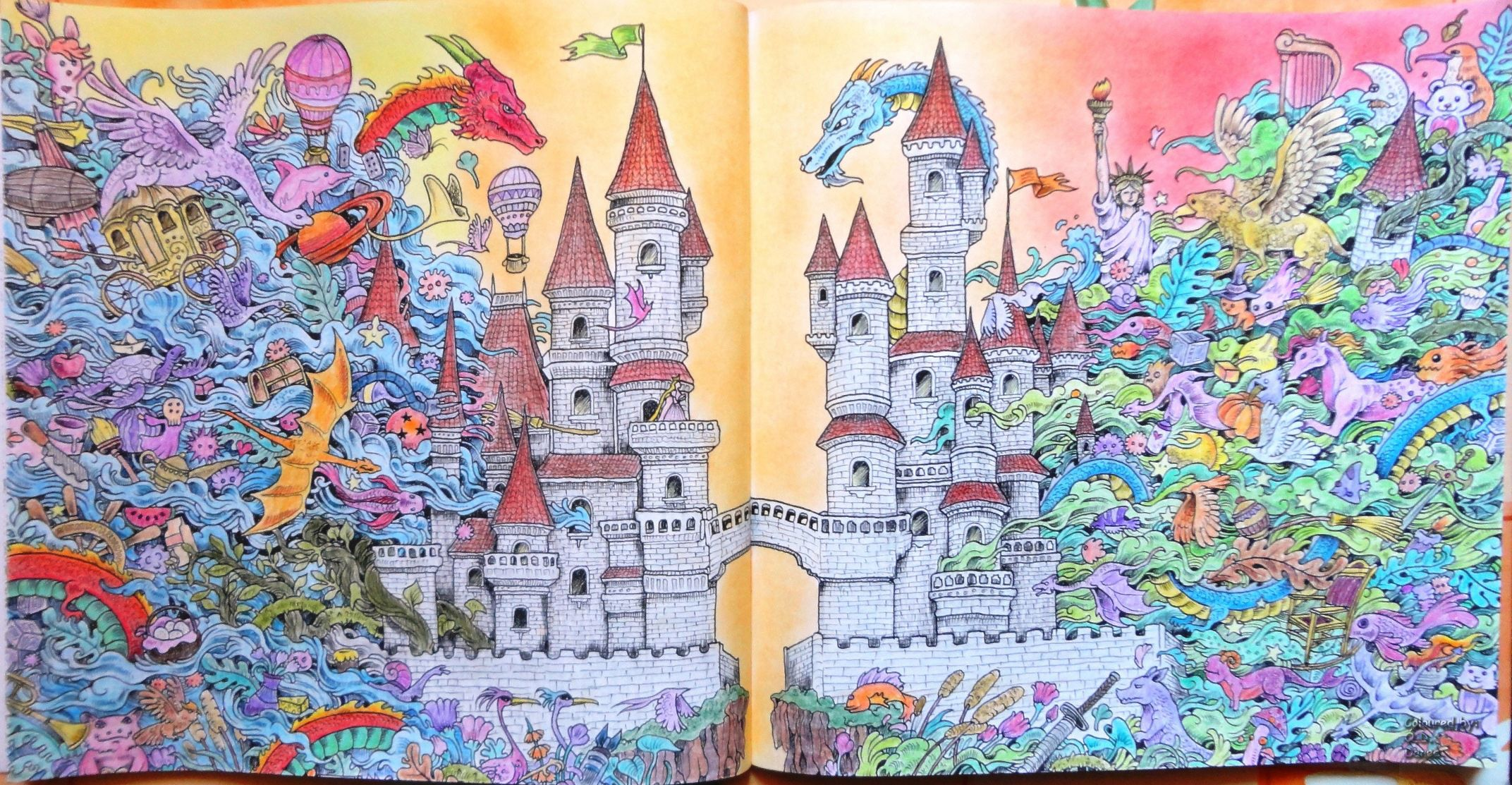 Creamorphia Imagimorphia Castles And Dragons Painting Art Castle